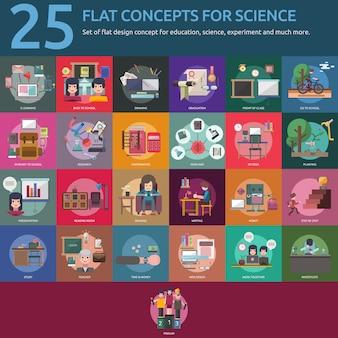 Colección de diseños de ciencia