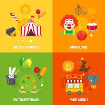 Colección de diseños de circo