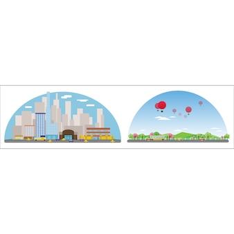 Colección de diseños de ciudad