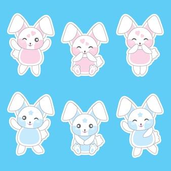 Colección de diseños de conejos
