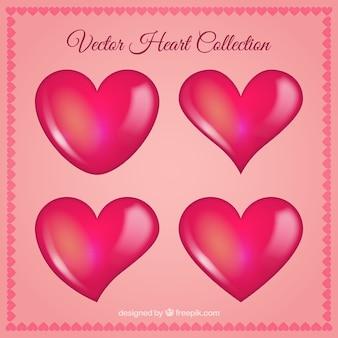 Colección de diseños de corazones