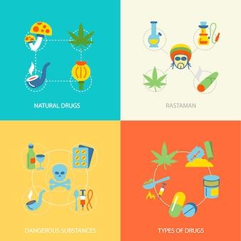 Colección de diseños de drogas