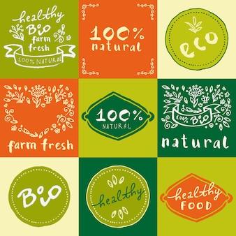 Colección de diseños de ecología