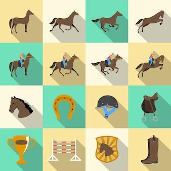 Colección de diseños de equitación