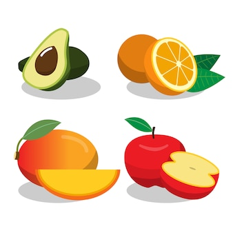 Colección de diseños de frutas
