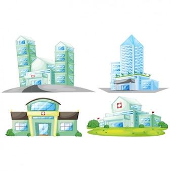 Colección de diseños de hospitales