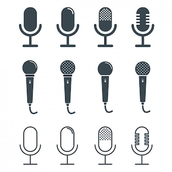 Colección de diseños de micrófonos