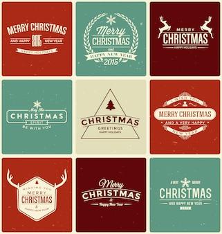 Colección de diseños de navidad
