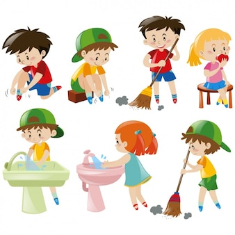 Colección de diseños de niños