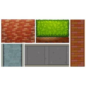 Colección de diseños de paredes