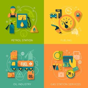 Colección de diseños de petroleo