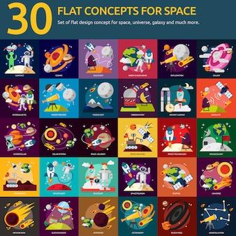Colección de diseños del espacio