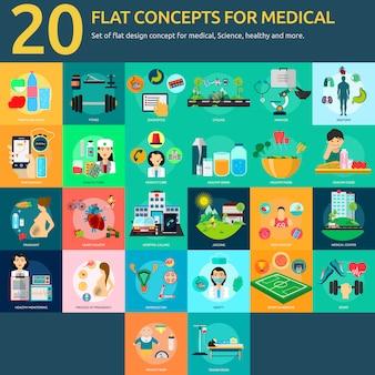 Colección de diseños médicos