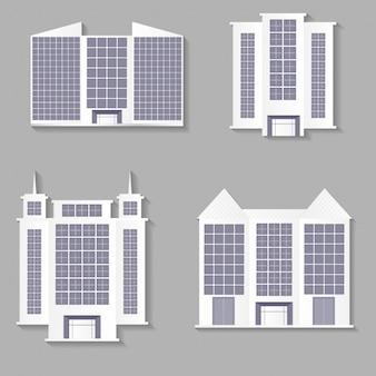 Colección de edificios planos