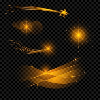 Colección de efectos de luz brillante