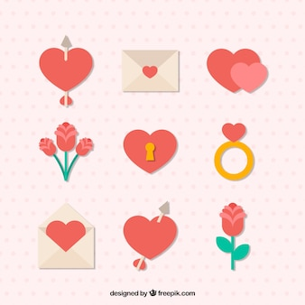 Colección de elementos amorosos
