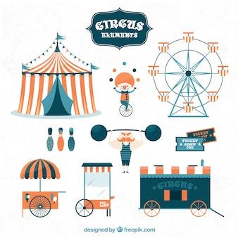 Colección de elementos bonitos de circo