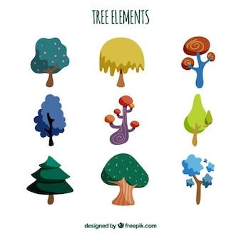 Colección de elementos de árbol