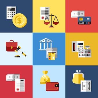 Colección de elementos de banco