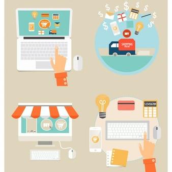 Colección de elementos de compra online