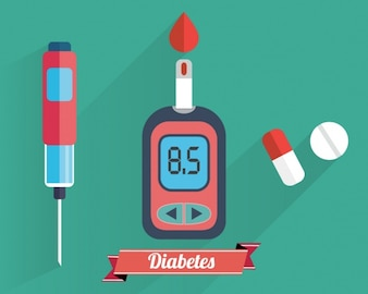 Colección de elementos de diabetes