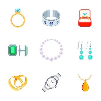 Colección de elementos de joyería