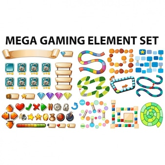Colección de elementos de juegos