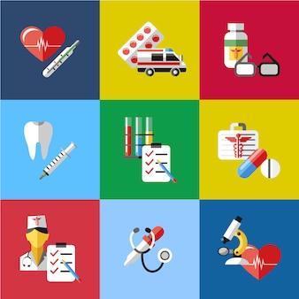 Colección de elementos de medicina