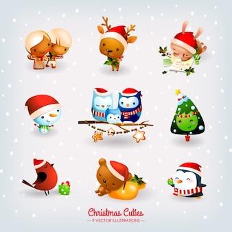 Colección de elementos de navidad
