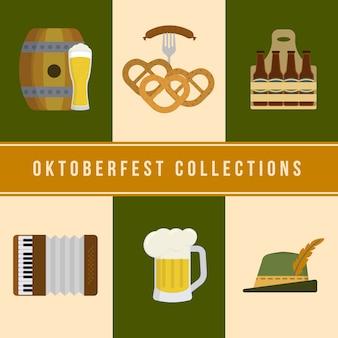 Colección de elementos de oktoberfest