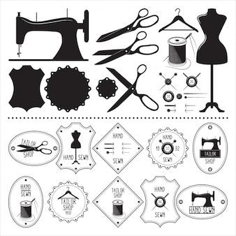 Colección de elementos de sastre