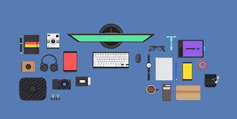 Colección de elementos de trabajo