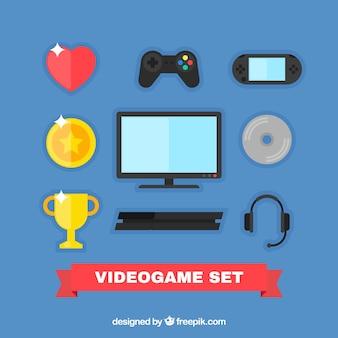 Colección de elementos de videojuego