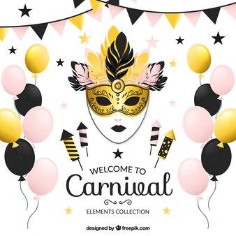Colección de elementos fantásticos para el carnaval
