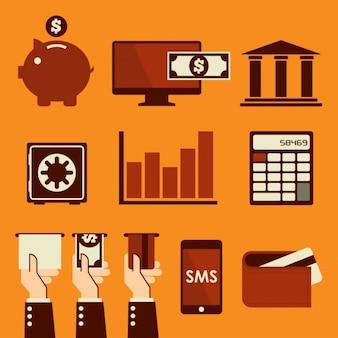 Colección de elementos financiales