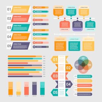 Colección de elementos infográficos