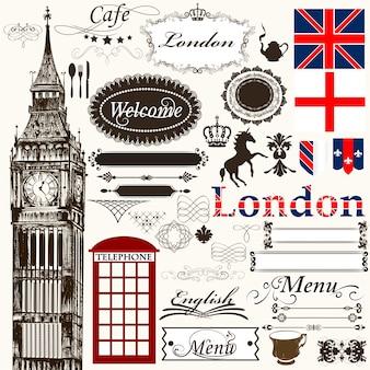 Colección de elementos ingleses