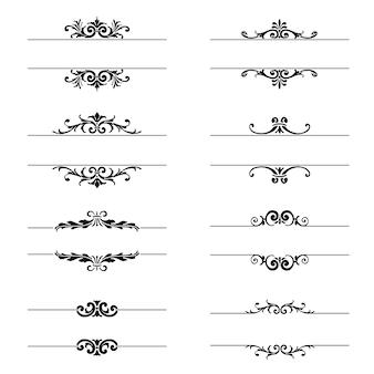 Colección de elementos ornamentales