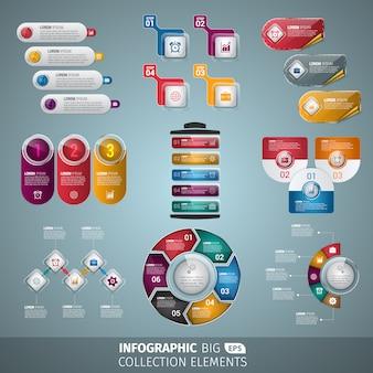 Colección de elementos para infografías