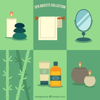 Colección de elementos planos de spa