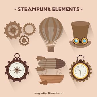 Colección de elementos steampunk