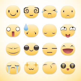 Colección de emojis a color