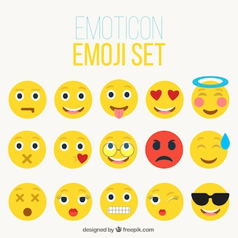 Colección de emoticonos amarillos
