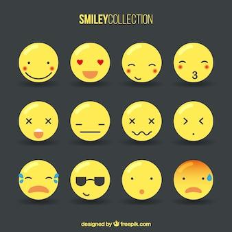 Colección de emoticonos bonitos