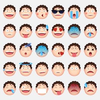 Colección de emoticonos de caras