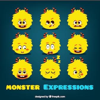 Colección de emoticonos de monstruo