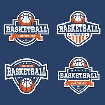Colección de escudos de baloncesto