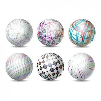 Colección de esferas abstractas