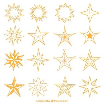 Colección de estrellas decorativas