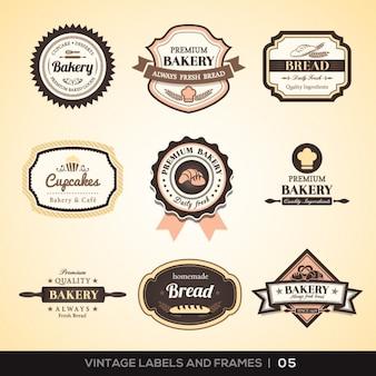 Colección de etiquetas de panadería